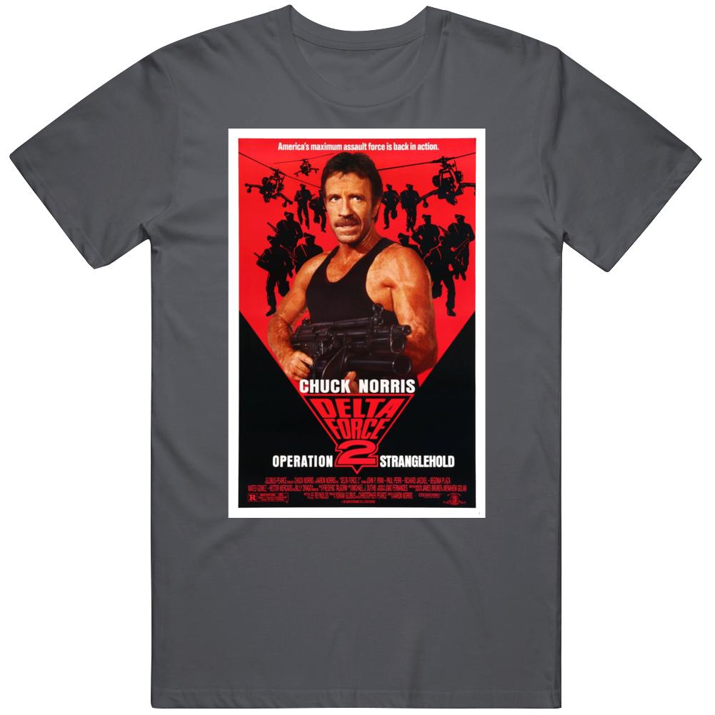 Delta Force 2 Operation Stranglehold 1990 Cult Classic Movie  Fan V2 T Shirt