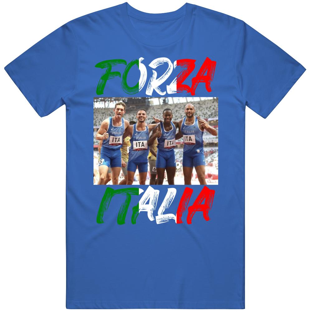 Men's Relay Team Olympic Gold Forza Italia Olympic Fan  T Shirt