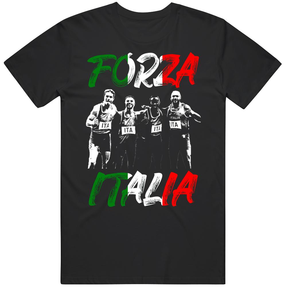 Men's Relay Team Olympic Gold Forza Italia Olympic Fan v2 T Shirt