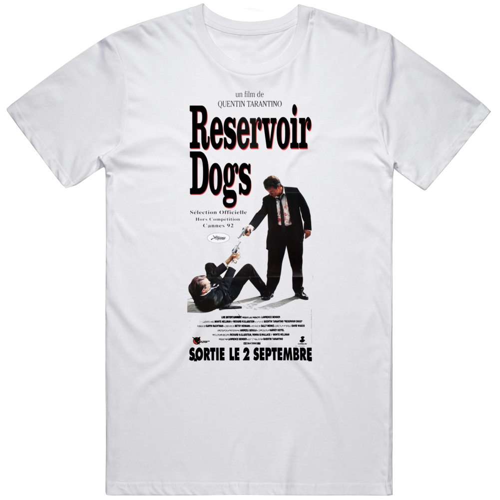 Reservoir Dogs 1992 Cult Classic French Movie  Fan T Shirt