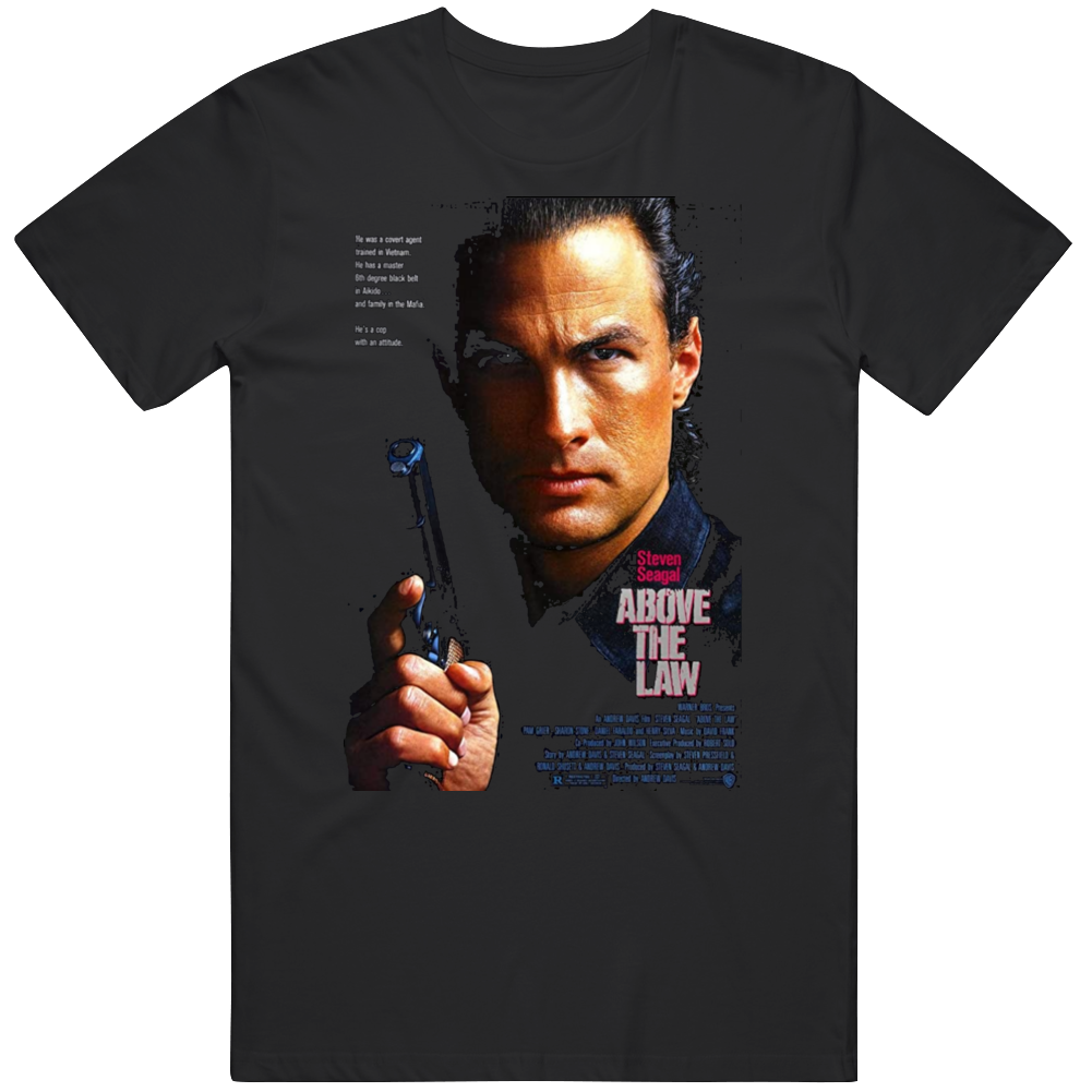 Retro Cult Classic Action Movie Poster Above the Law Fan   T Shirt