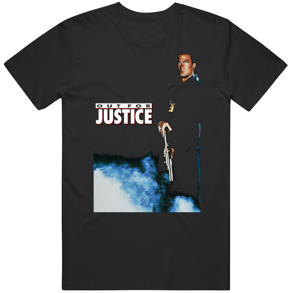 Retro Cult Classic Action Movie Poster Out for Justice Fan T Shirt