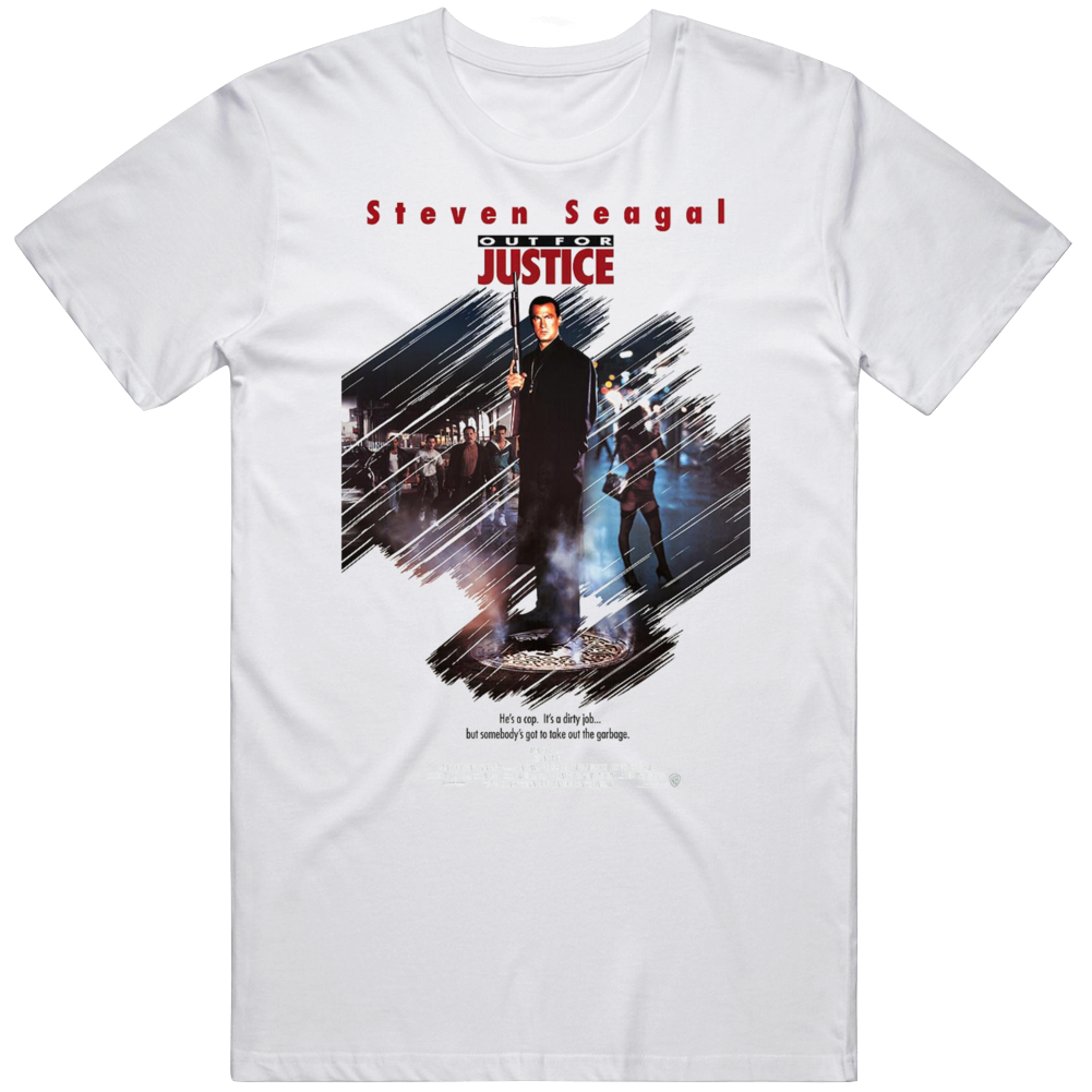 Retro Cult Classic Action Movie Poster Out For Justice Fan V2  T Shirt