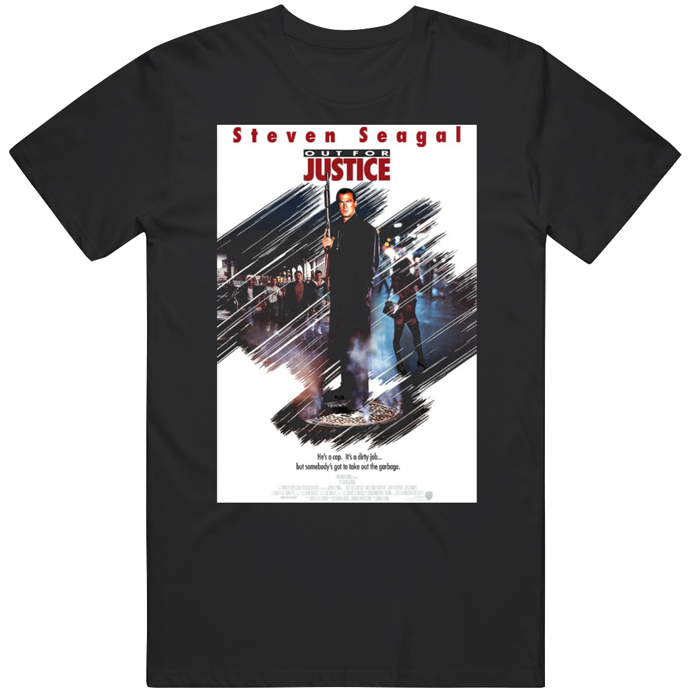 Retro Cult Classic Action Movie Poster Out For Justice Fan V3  T Shirt