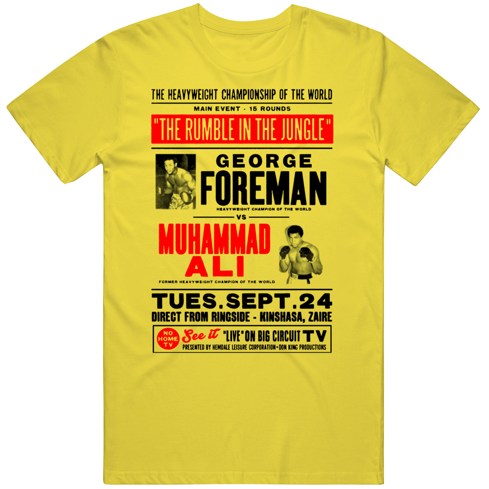 Rumble In The Jungle George Foreman Vs Muhammad Ali Boxing  Fan T Shirt