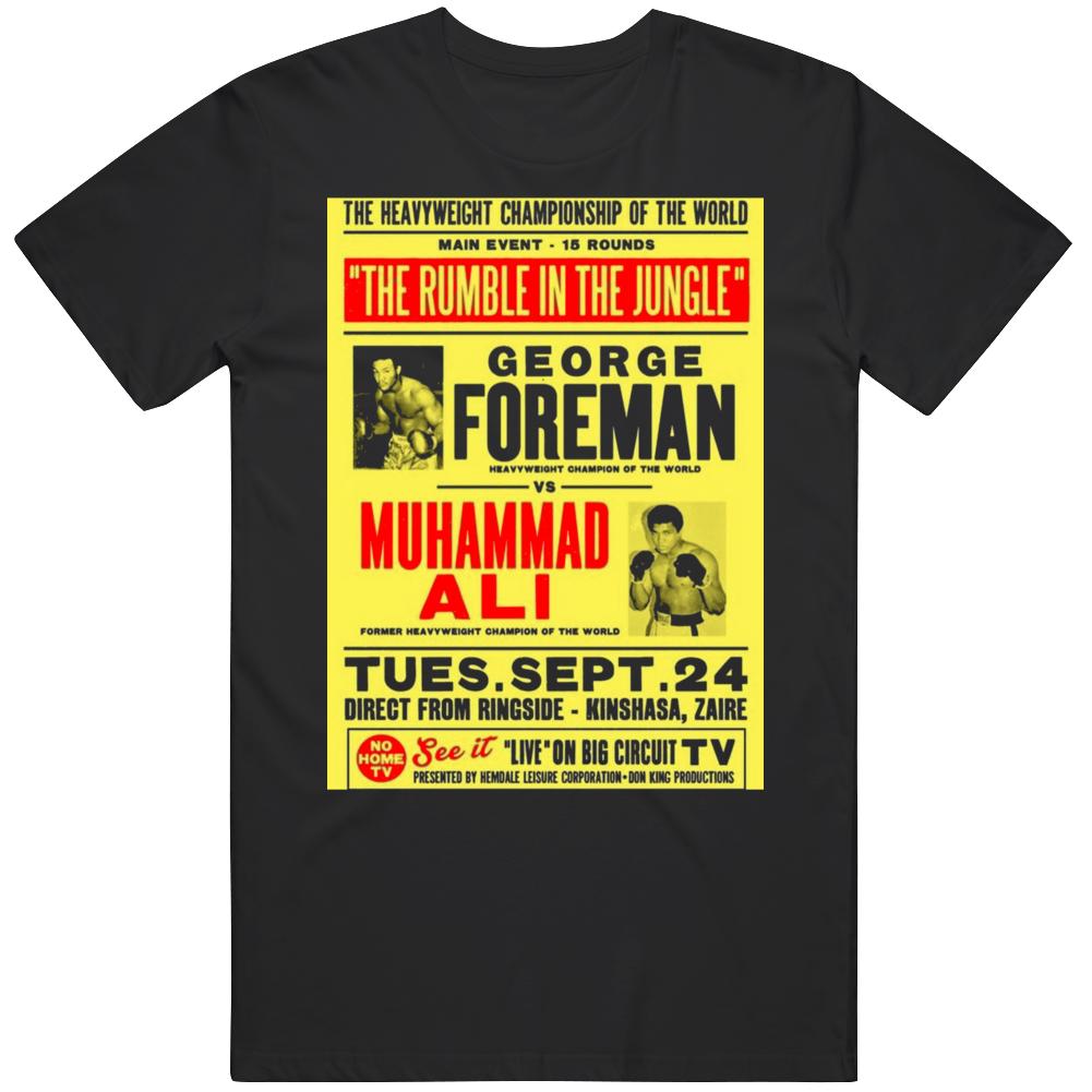 Rumble In The Jungle George Foreman Vs Muhammad Ali Boxing  Fan V2 T Shirt