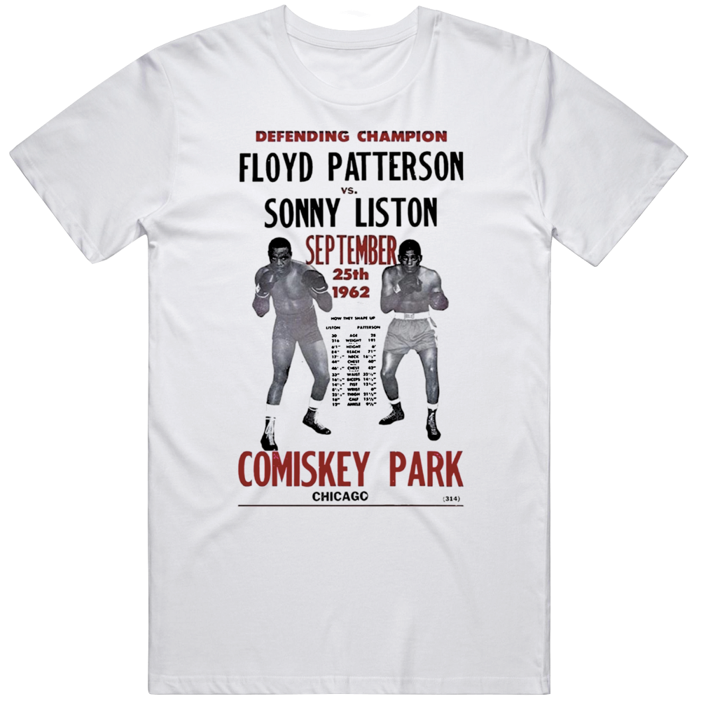 Sonny Liston V Floyd Patterson Sept 25 1962 Boxing  Fan T Shirt