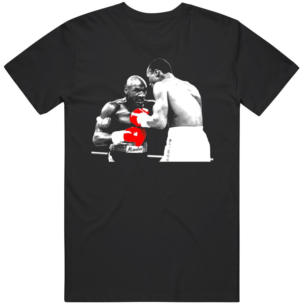 Marvelous Marvin Hagler v Sugar Ray Leonard Classic Fight Boxing Fan  T Shirt