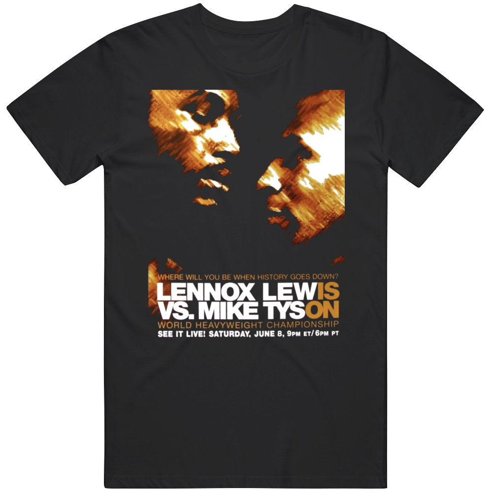 Lennox Lewis vs Mike Tyson Fight Poster Boxing Fan T Shirt