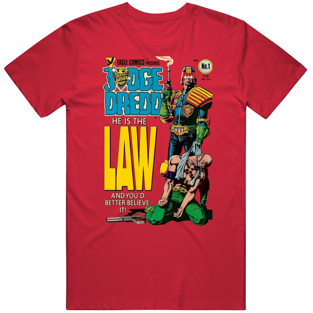 Judge Dredd Comic Cover Fan T Shirt