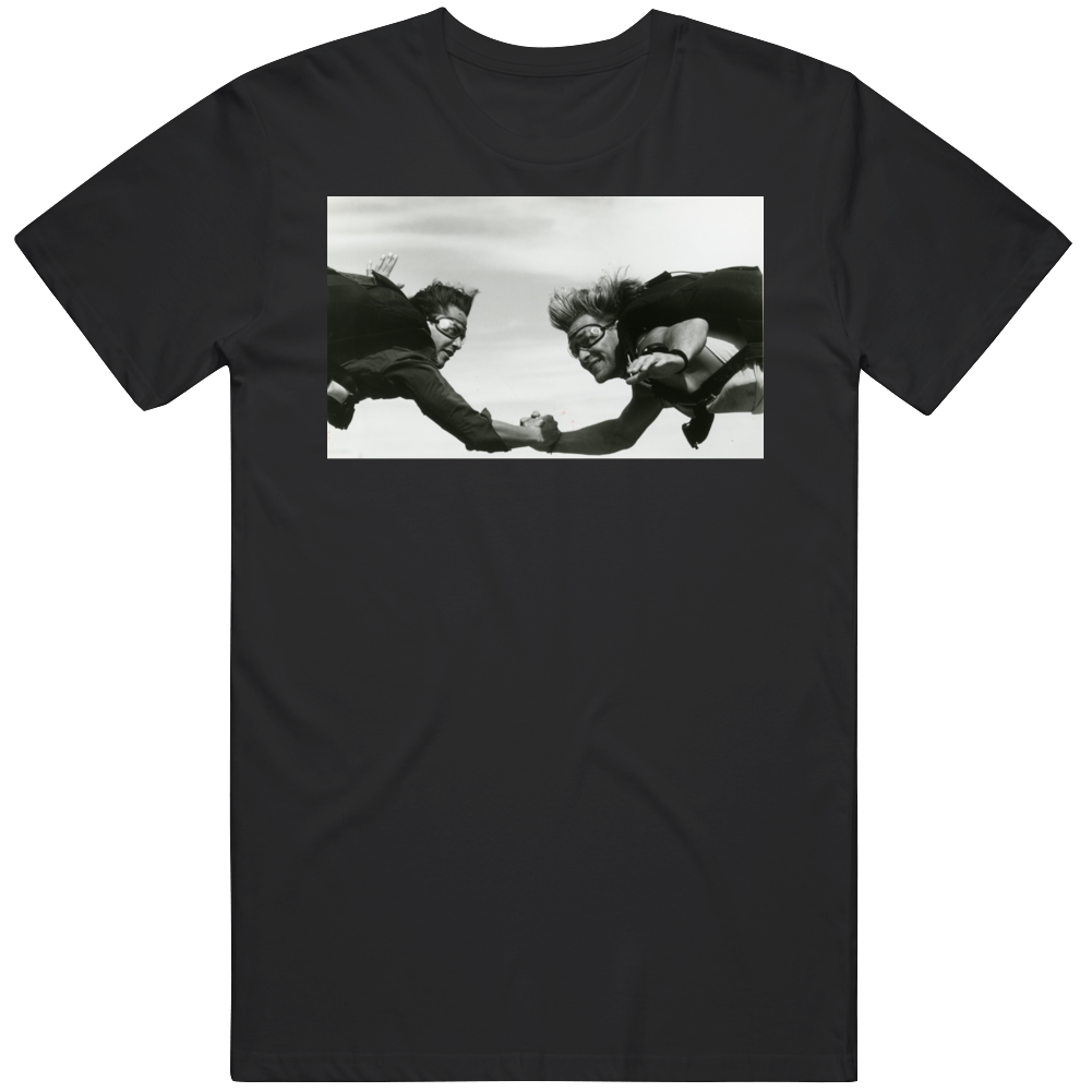 Cult Classic Movie Point Break Sky Diving Scene Bodhi and Utah Fan  T Shirt