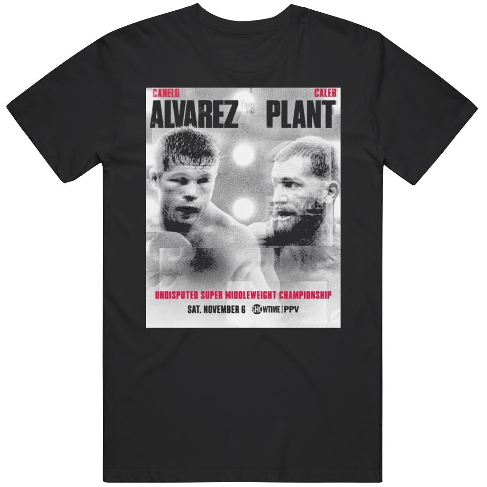Saul Canelo Alvarez Vs Caleb Plant Boxing  Fan T Shirt