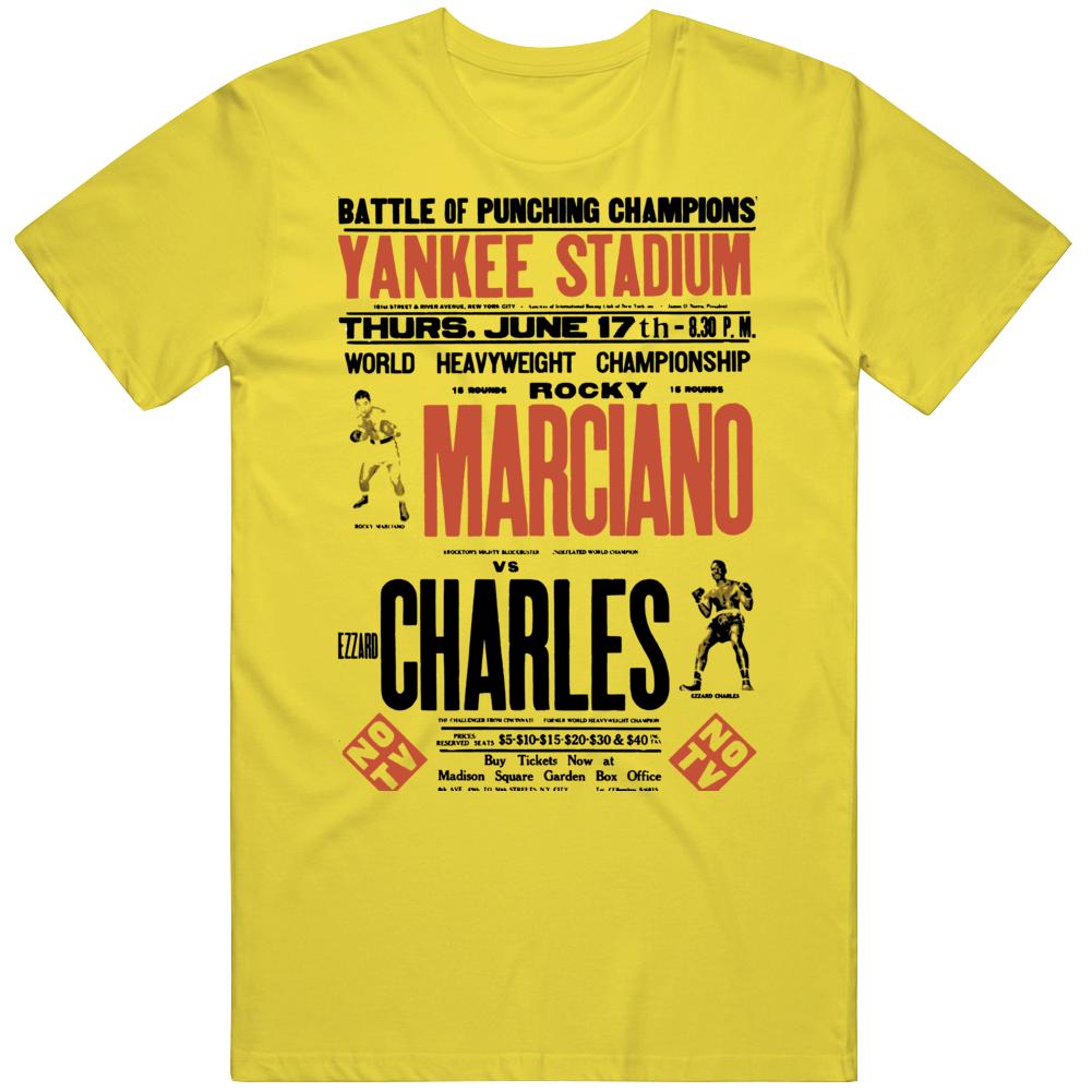 Rocky Marciano V Ezzard Charles Boxing  Fan T Shirt