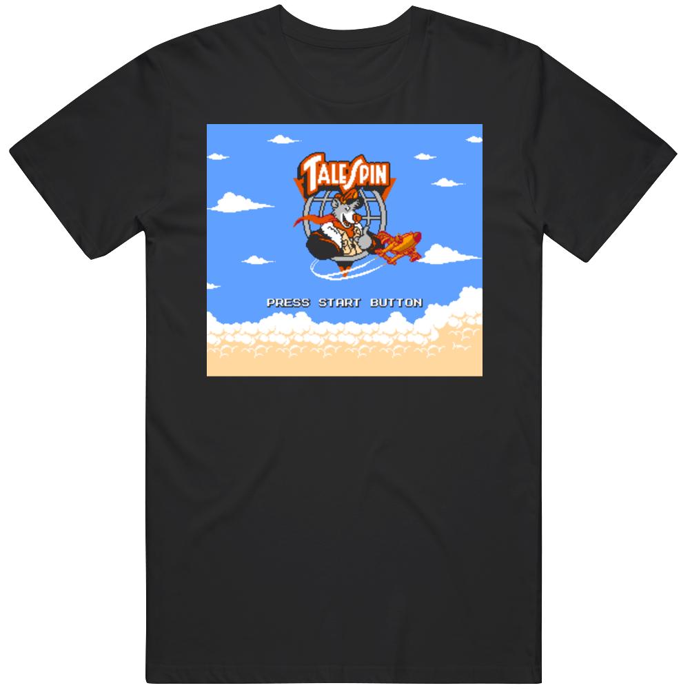 Tale Spin Retro Video Game Fan Start Screen T Shirt