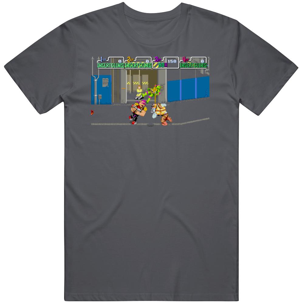 Teenage Mutant Ninja Turtles Bebop and Rocksteady Retro Video Game Fan Game Play T Shirt