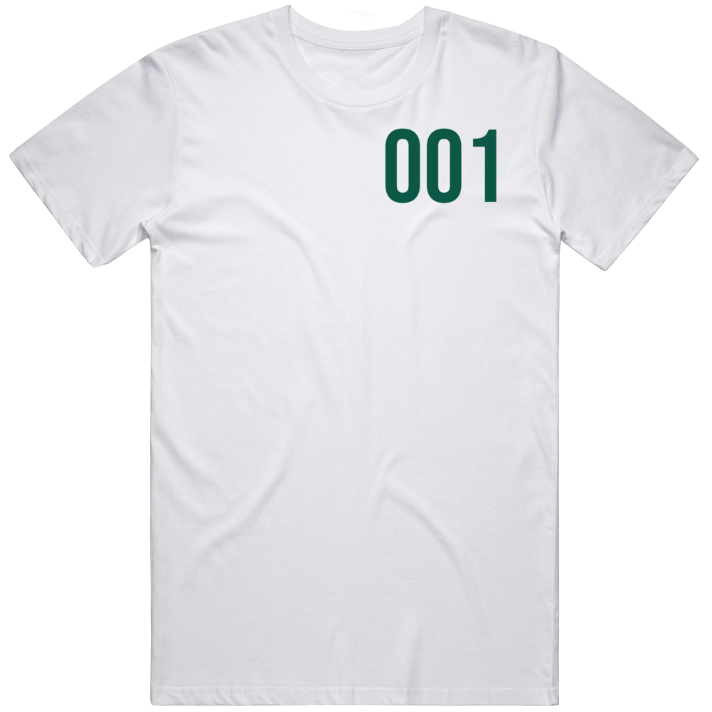 Squid Game Player 001 Series Fan  T Shirt