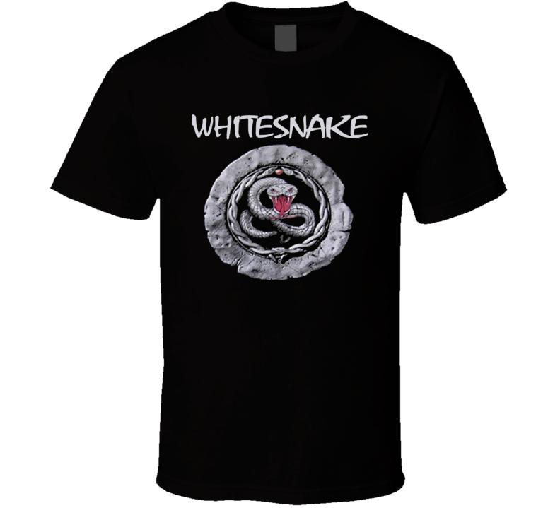 White Snake Retro Rock Band T Shirt