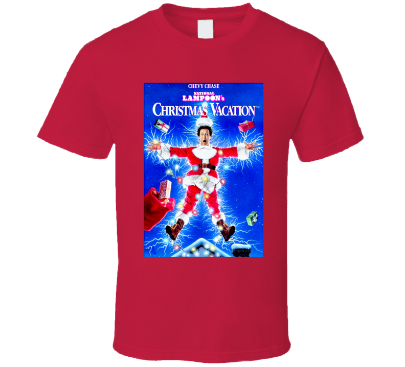 National Lampoons Christmas Vacation Movie Poster T Shirt