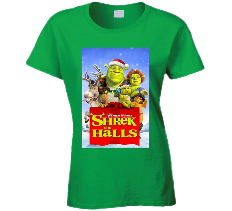 Shrek The Halls Christmas Movie Tshirt