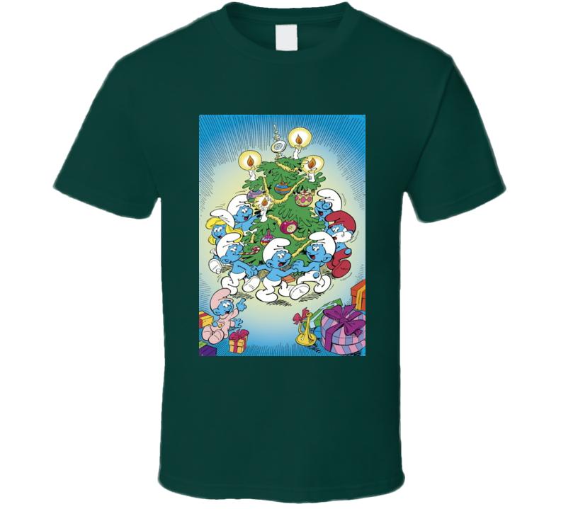 The Smurf Family Christmas Tree Tshirt