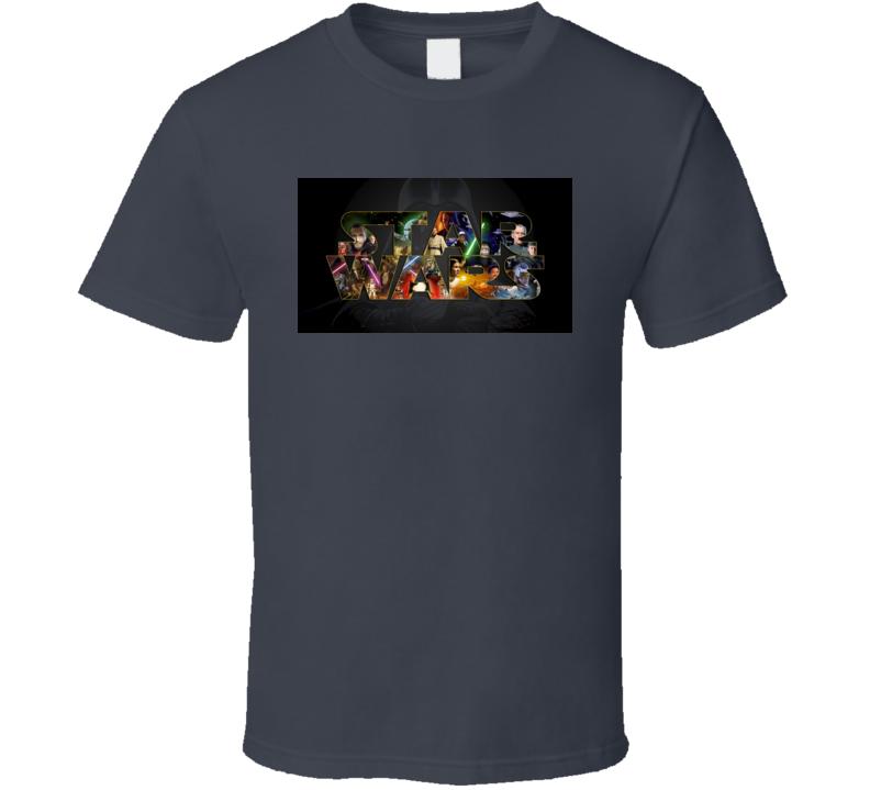 Star Wars Character Collage Logo Tshirt