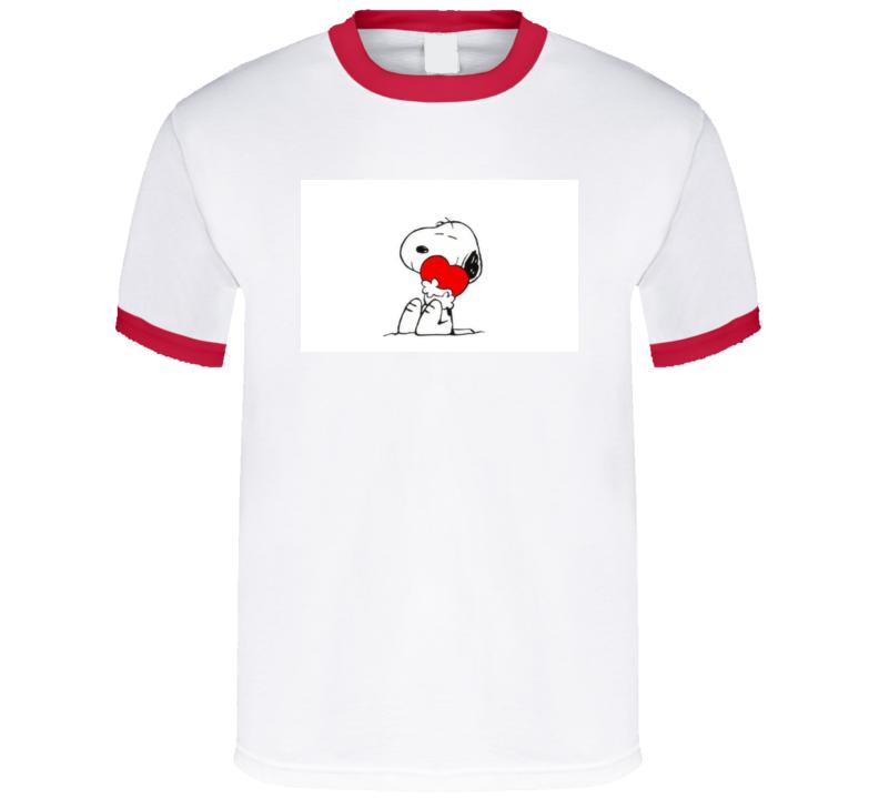 Snoopy Love Valentine's Day - Charlie Brown Peanuts Tshirt