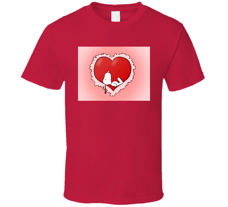 Snoopy Valentines Dreams - Charlie Brown Peanuts Tshirt