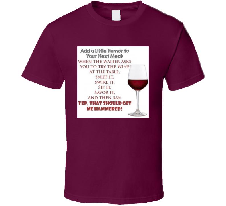 Wine Taster Tshirt
