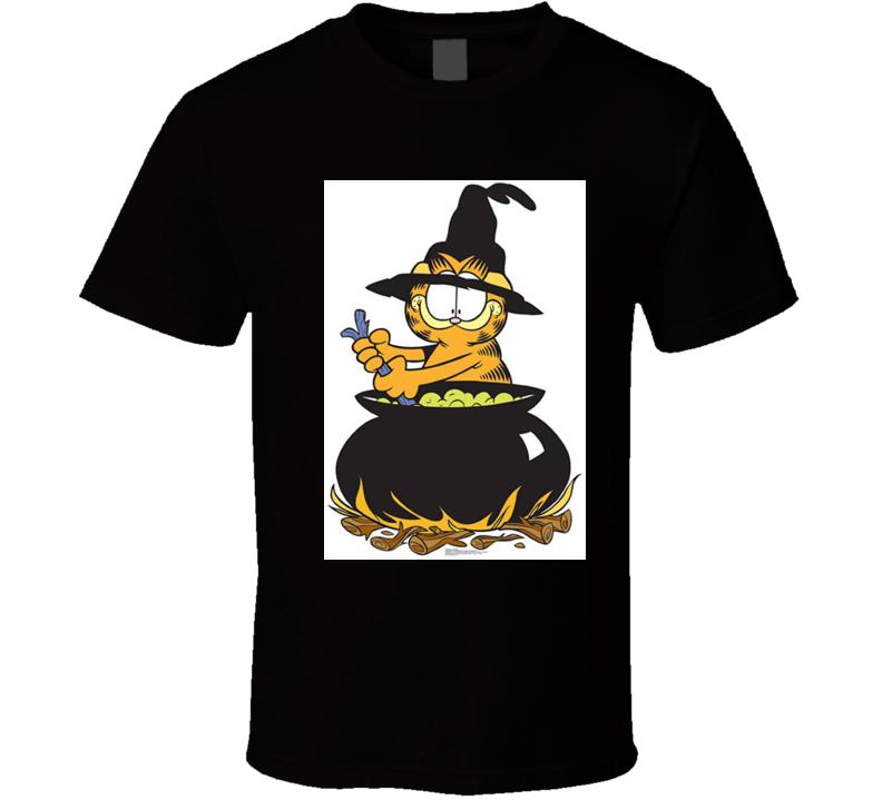 Retro Garfield Cartoon Spooky Stew Tshirt