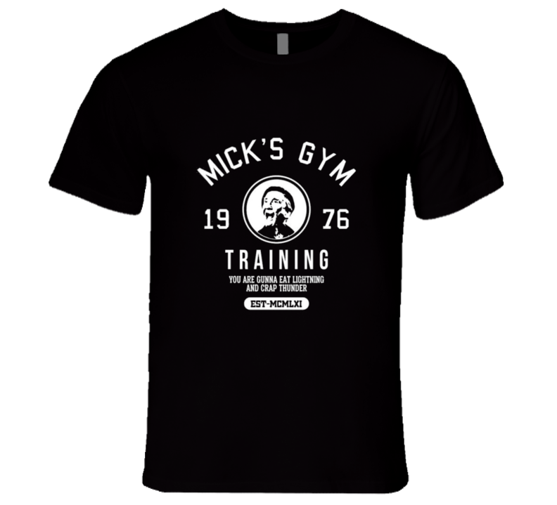 Mick's Gym Rockie Classic Retro Movie Tshirt