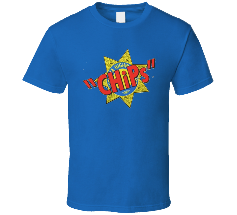 CHiPs 70's Action TV Logo Tshirt