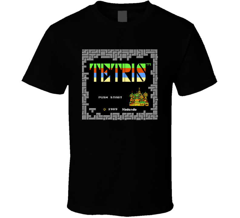 Retro Tetris Video Game Tshirt