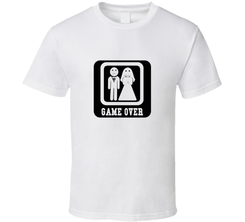Game Over Bride & Groom Funny Tshirt