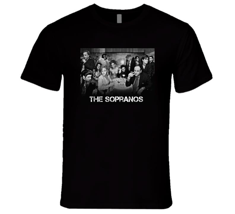 Sopranos Retro Tv Series Cast Tshirt