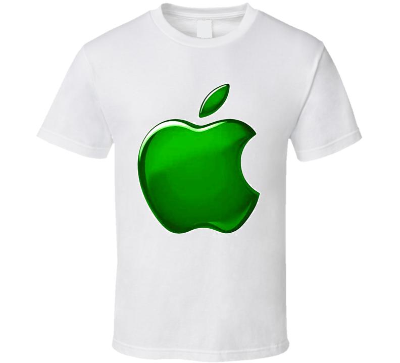 Mac Green Apple Logo T Shirt