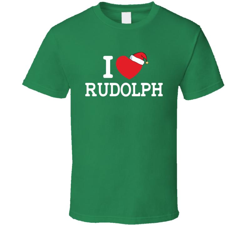 I Love Rudolf Christmas Tshirt