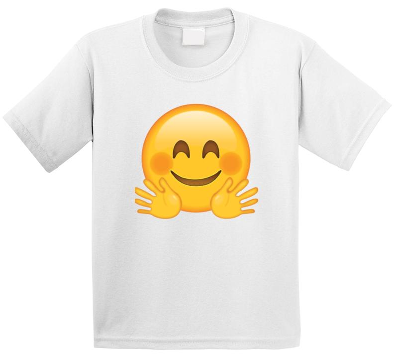 Hug Emoji Kids Tshirt