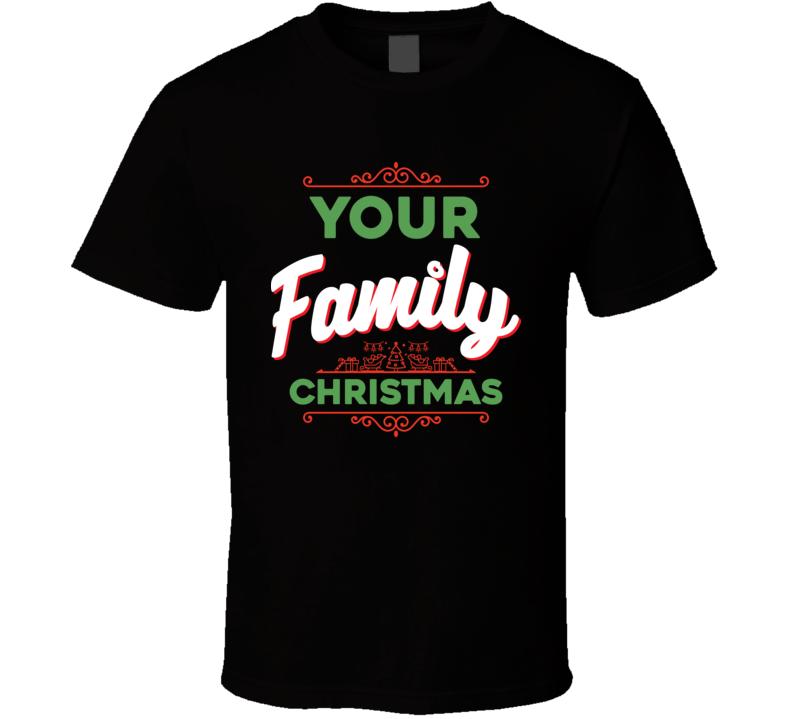 Customizable Family Christmas Tshirt