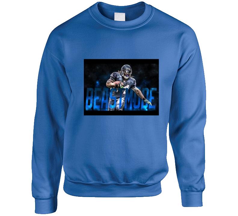 Marshawn Lynch Beast Mode Nfl Football Crewneck Sweatshirt