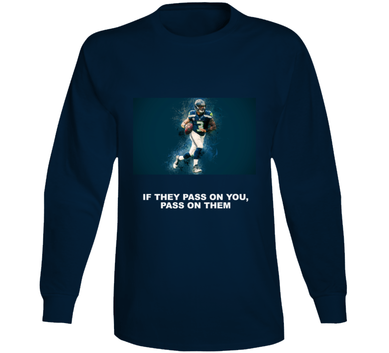 Russell Wilson Nfl Football Player Quote Long Sleeve