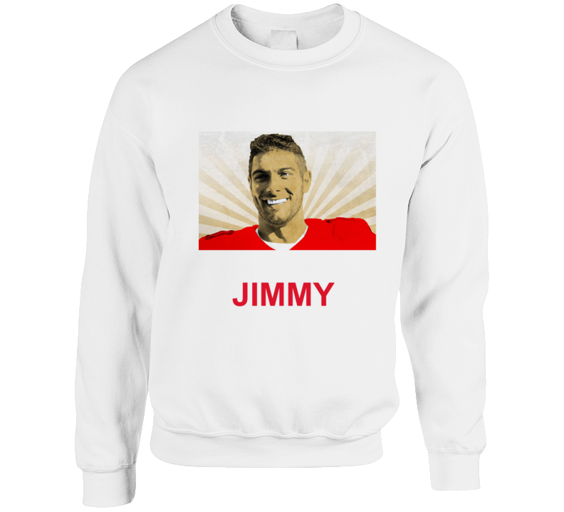 Jimmy Garoppolo Nfl Player Sweatshirt Crewneck Sweatshirt