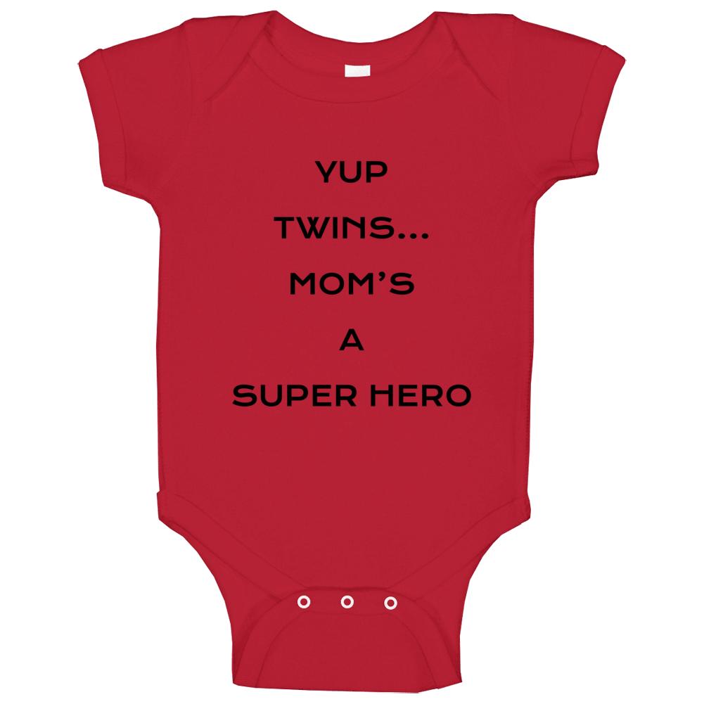 Moms A Super Hero Baby One Piece