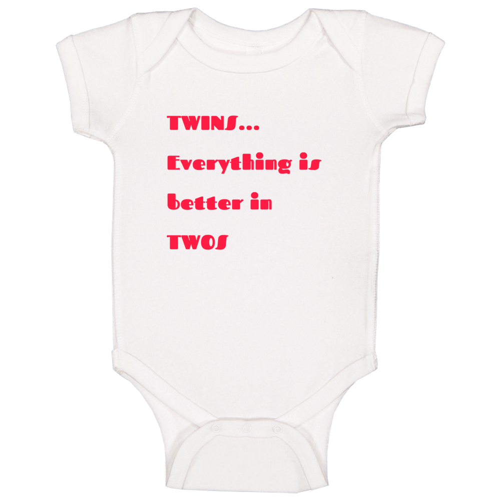 Twins Better In Twos Baby One Piece