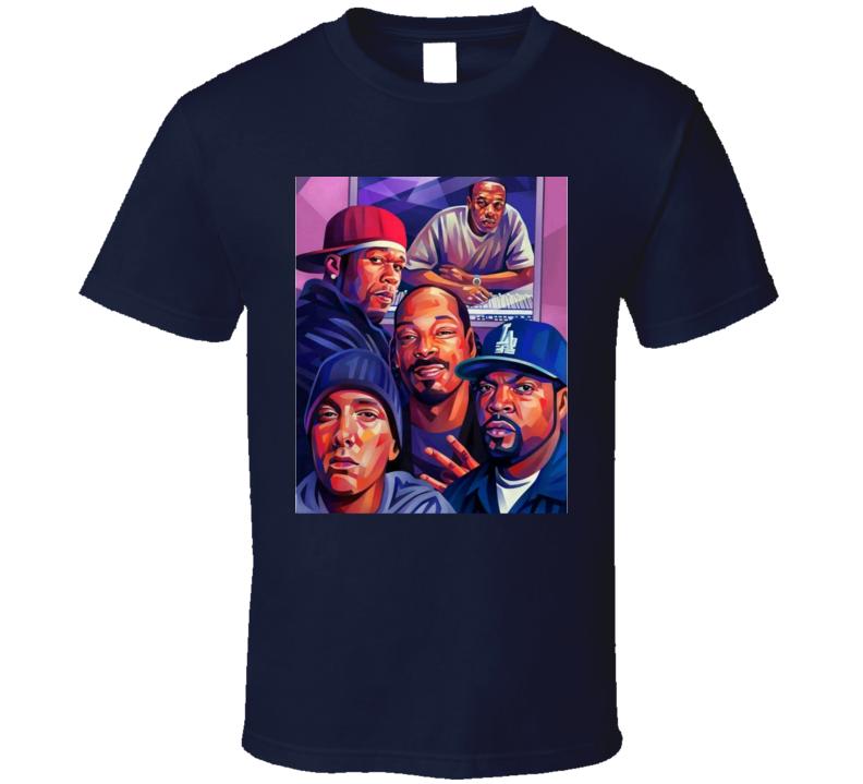 Snoop, Em, 50, Dre And Cube Og Rap T Shirt