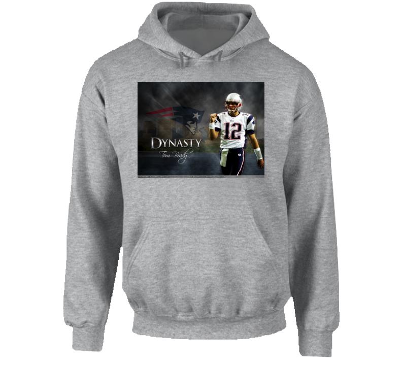 Tom Brady Football Dynasty Pull-Over T Shirt