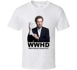 House Tv Show Dr House WWJD Style White Glove T Shirt