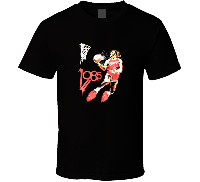 Michael Jordan 1985 Retro Classic Basketball T Shirt