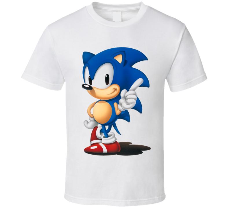 Sonic Sega Hedgehog Video Game Classic T Shirt