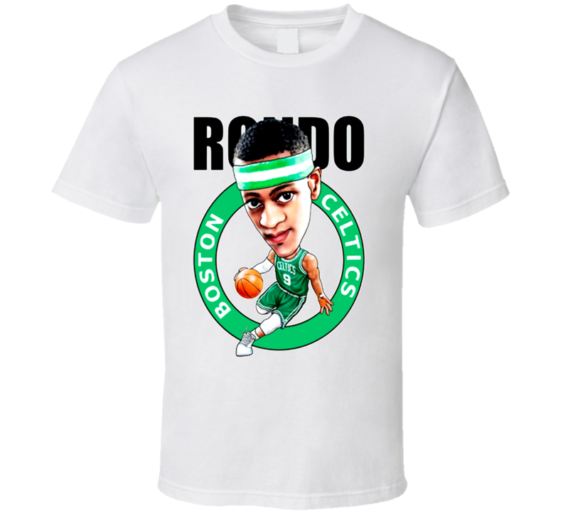 Rajon Rondo Celtics Caricature Basketball T Shirt
