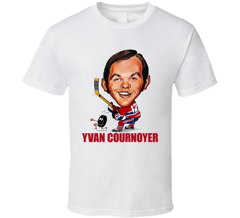 Yvan Cournoyer Montreal Hockey Cartoon Caricature T Shirt